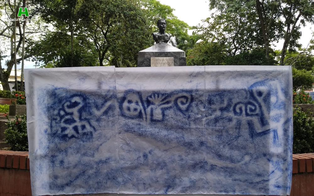 Exposición de la Riqueza Arqueológica de El Tambillo - Busto del escritor José Eustacio Rivera