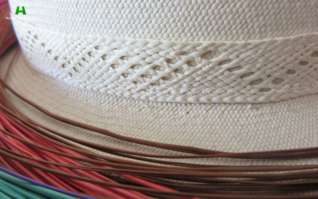 Detalle del tejido Sombrero Suaza