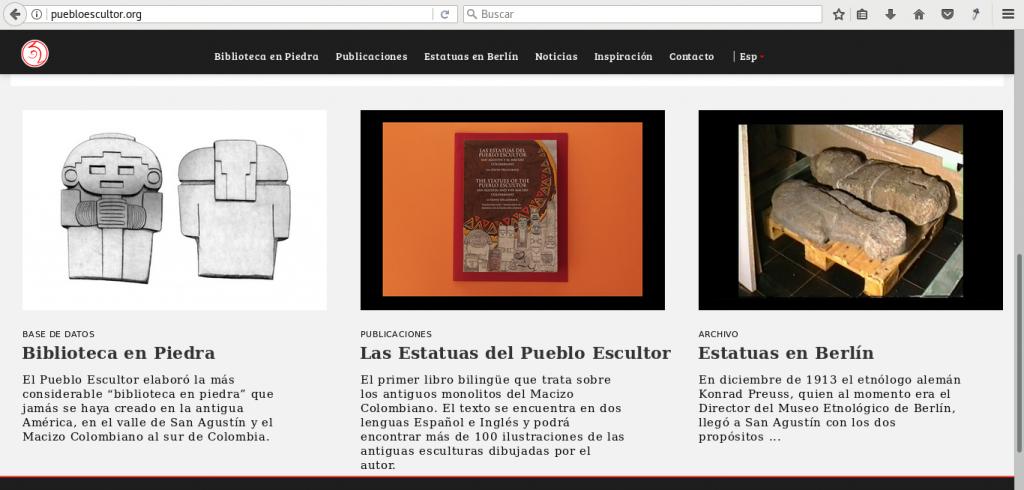 Sitio web Pueblo Escultor