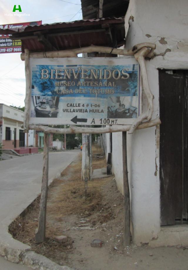 Anuncio del Museo - Vía hacia el Desierto de la Tatacoa