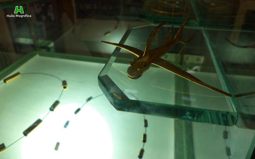 Réplica del Pez Alado exhibido en el Museo de Oro de Bogotá