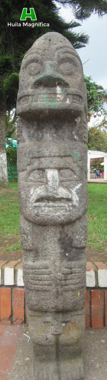 Pieza de Arte exhibida en el parque central del casco urbano del Municipio de Isnos