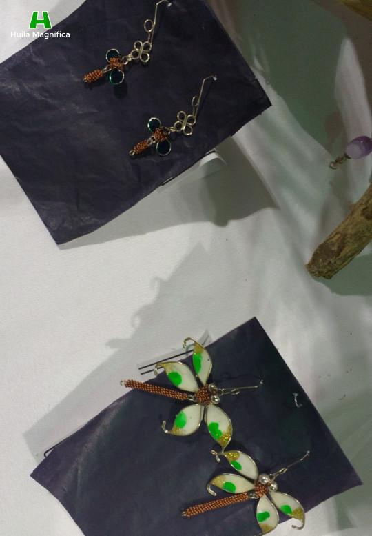 Insectos en filigrana en aleación de plata y bronce