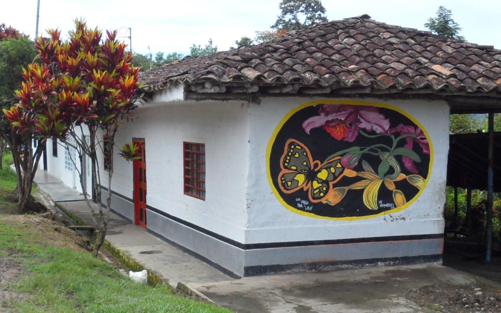 Muralismo por la defensa del territorio - Guaitipán Resiste (Pitalito - Huila)