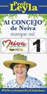Profe Leyla (Numero 1) - Concejo de Neiva - Neiva Humana y Alternativa