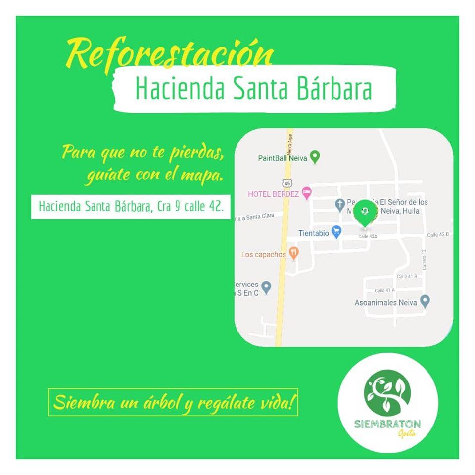 Invitación a reforestar en los alrededores del Humedal hacienda Santa Barbara
