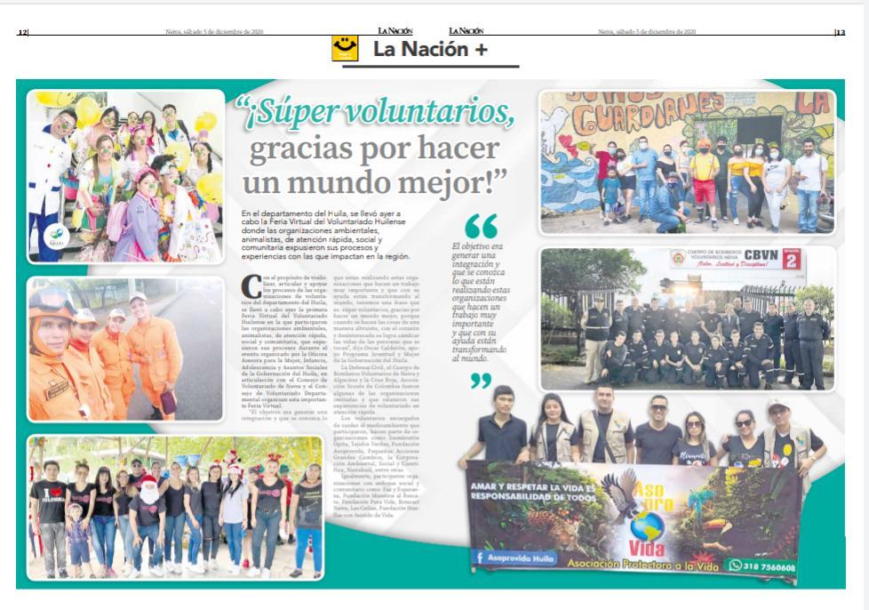 Súper voluntarios, gracias por hacer un mundo mejor