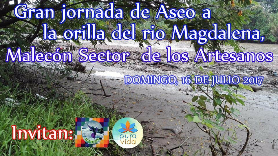 Jornada de aseo Malecón Rió Magdalena