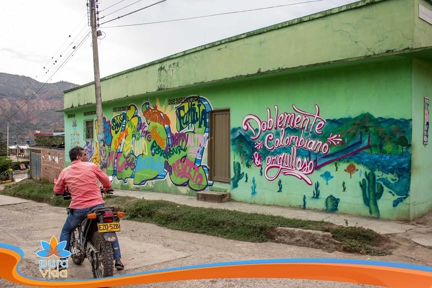 Mural en Colombia (Norte del Huila)